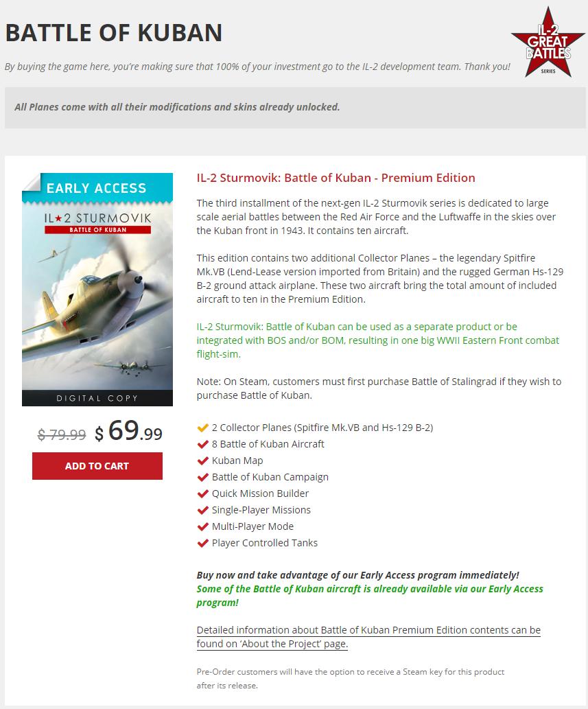 IL-2 Great Battles Sales